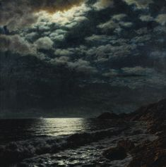 IVAN FEDOROVICH CHOULTSÉ 1877-1932 MOONLIT SEA signed in Latin l.l.; bearing Galerie Gérard exhibition label on the reverse oil on canvas 78...