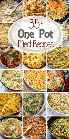 35+ One Pot Meal Recipes ~ What's not to Love about One Pot Meals? Only One Dish to get Dinner on the Table! You'll Love These One Pot Dinner Recipes that are Quick, Easy and Delicious Recipes! ~ http