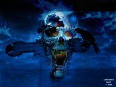cranio immagine di benvenuto pericolo sinistro e carta da parati