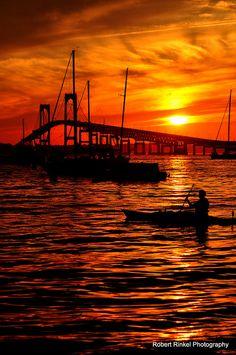 Sunset Kayak by Robert Rinkel