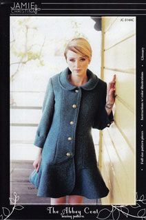 Jamie Christina The Abbey Coat [1PA-JamieChristina-314] - $14.95 : Pink Chalk Fabrics is your online source for modern quilting cottons and sewing patterns., Cloth, Pattern + Tool for Modern Sewists