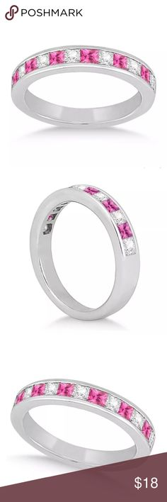 Pink & White Topaz S925 Sterling silver ring  Darling . Pink and white topaz gemstone ring. S925 stamp sterling silver band. Size 7.  Brand new. Never worn.  Wrapped and shipped with care . Tracking always provided. Ice Jewelry Rings