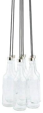 Leitmotiv Glass Bottle Lamp Bundle - modern - pendant lighting - ModernistLighting.com