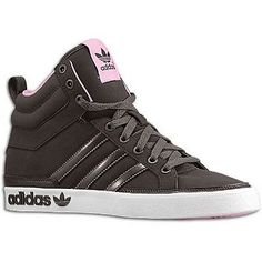 Womens Adidas Top Court Mid Classic Sneakers New, Brown Pink G66217 Sale**
