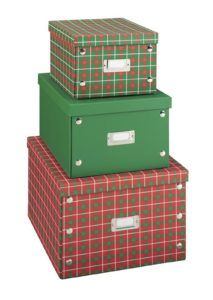 Kmart Ornament Storage Boxes