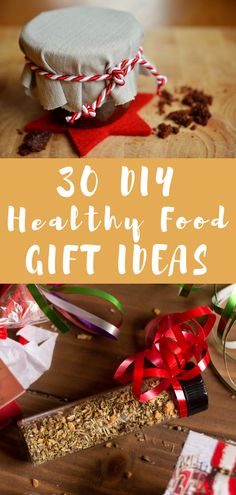 Here are 30 DIY healthy food gift ideas for foods, friends, and family. These budget-friendly gifts are homemade and from the heart. Give the gift of health this holiday season! Great ideas from Best Food Gifts, Homemade Food Gifts, Diy Food Gifts, Heart Healthy Recipes, Healthy Snacks, Nut Recipes, Edible Christmas Gifts, Edible Gifts, Christmas Treats