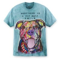 Tie-Dye Happiness Is Pit Bull T-Shirt