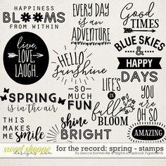 Scrapbook Titles, Scrapbook Stickers, Sister Cards, Doodle Paint, Drawing Journal, Card Sentiments, Cricut Tutorials, Positive Words, Brush Lettering