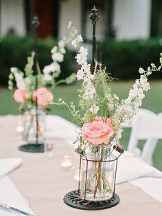 #centerpiece  Photography: Amy Arrington Photography - www.amyarrington.com  Read More: http://www.stylemepretty.com/southeast-weddings/2014/03/20/classic-burge-plantation-wedding/