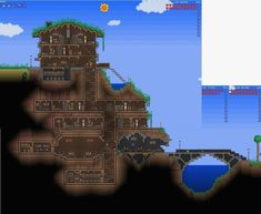 This would be an amazing Minecraft base for a group of people. Made in Terraria, made for Minecraft. Minecraft World, Video Minecraft, Minecraft Houses Xbox, Minecraft Houses Survival, Minecraft House Tutorials, Minecraft Houses Blueprints, Minecraft Plans, Minecraft House Designs, Cool Minecraft