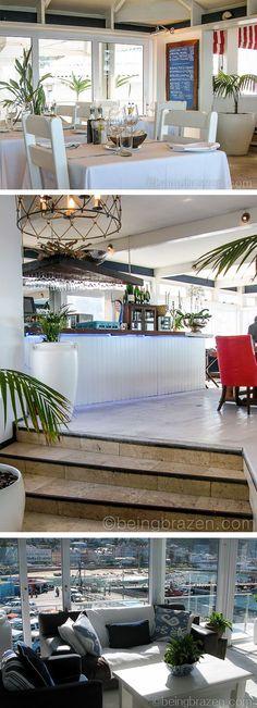 Harbour House restaurant in Kalk Bay  - very pretty decor