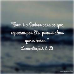 Lamentações 3:25