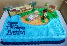 jake and the neverland pirates sheet cake - Google Search