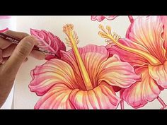 Hibiscus watercolour painting - YouTube