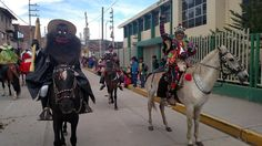 Personajes de la navidad en Acobamba, Huancavelica, Peru.
