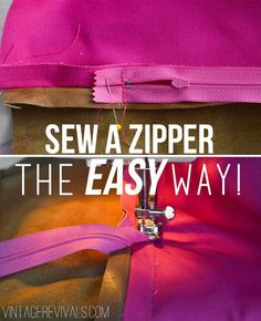 The easiest way to sew a zipper into a pillow!  No skills required!!
