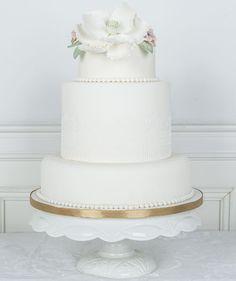 Lace and Magnolia #Bryllupskake #Bryllup #Hancock #ByHancock #CakesbyHancock  #Oslo #Norge