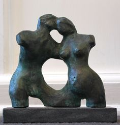Arthur Umlauf   Union   Bronze   5 1/2 x 7 1/2 x 2  Russell Collection Fine Art Gallery :: Austin, Texas info@russell-collection.com for pricing inquiries