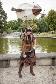 Steampunk. I wonder... Make the airship airtight, fill with helium, and it'll put a spring in your step.