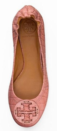 pretty pink flats | tory burch