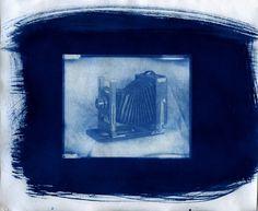 Cyanotype - Eastman Kodak 2D 5x7 camera. From Fomapan 100 negative.