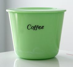 jadeite coffee canister - etsy
