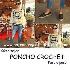 Poncho crochet de Juliana Awada de Macri - Paso a paso