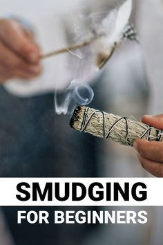In recent years, smudging has become a trend among celebrities and influencers. Despite this newfound hype, this ancient healing practice been around for centuries. Have you heard of smudging, but you aren't sure what it is? You've come to the right place! In this smudging for beginners guide, we're walking you through every step of the ritual.    #smudging #smudgingforbeginners #crystalcleanse Smudging Prayer, Sage Smudging, Chakra For Beginners, Spiritual Wisdom, Spiritual Growth, Burning Sage, Spiritual Cleansing, Removing Negative Energy, Smudge Sticks