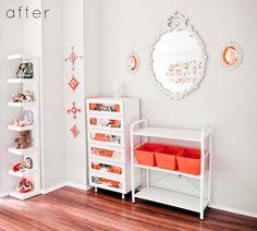 orange + white nursery