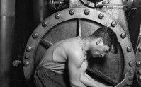 """Powerhouse mechanic""- Lewis Hine- 1920"