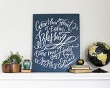 Lindsay Letters - Come Thou Fount Canvas