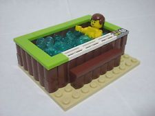 Hot tub for condo Legos, Lego Furniture, Lego Boards, Lego Activities, Lego Modular, Lego For Kids, Lego Room, Cool Lego Creations, Lego Design