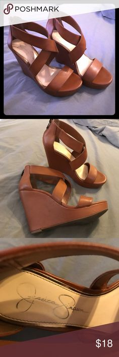 Brown Jessica Simpson wedges Brown wedges jessica Simpson brand. Jessica Simpson Shoes Wedges