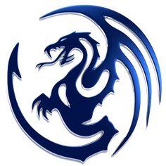 Tattoos And Body Art tribal dragon tattoo Tribal Dragon Tattoos, Chinese Dragon Tattoos, Dragon Tattoo Designs, Blue Dragon, Dragon Art, Logo Dragon, Tattoo Sketches, Tattoo Drawings, Tattoo Art