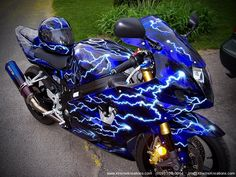 Custom Painted Sport Bikes | Sportbike Custom Painting Gallery of motorcycles with custom painting