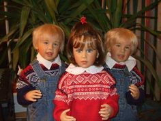 "sissel skille Gorgeous Dolls in the Norwegian ""Marius"" sweaters ! Lovely <3"