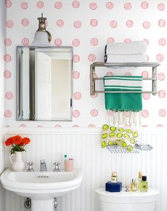 13 Clever Ways to Decorate Your Bathroom Walls | Hunker