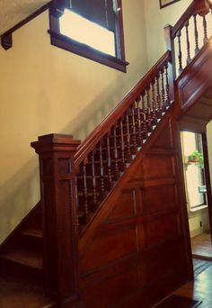 Victorian staircase from a 1899 home in Parkridge, Knoxville TN.
