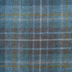Light Blue, Navy Blue and Brown Holyrood Weathered Tartan Check Tweed – Yorkshire Fabric Tartan Chair, Capsule Wardrobe Work, Textiles, Tartan Pattern, Tweed Fabric, Chiffon, How To Dye Fabric, Petite Fashion, Curvy Fashion