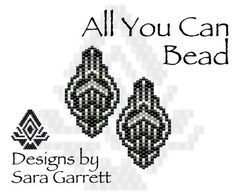 PATTERN ONLY. Create these beautiful peyote earrings. Delica Beads. Odd count with 4 bead colors. 19 bead columns by 25 bead rows. 1 wide by 1.75 long. Pattern includes a pattern preview, full bead legend, colored bead graph, complete word graph. Note: I choose the color palette that