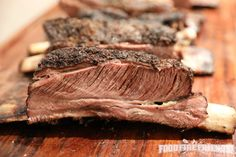 Here's how I make smoked beef ribs - Crusty, smoky, moist and tender, give them a try, you're sure to be impressed and so will your guests be! Smoked Beef Ribs Recipe, Smoked Beef Short Ribs, Bbq Beef Ribs, Rib Recipes, Grilling Recipes, Game Recipes, Beef Tenderloin Roast, Pork Roast, Amigurumi