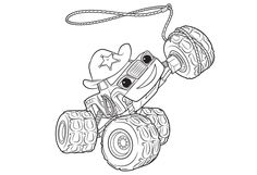 Blaze Monster Truck Stripes coloring page for kids