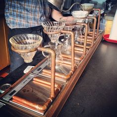 """Cool new drip coffee system! Each with it's own scale!"" Instagram"