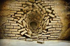 Bricks sand sculpture