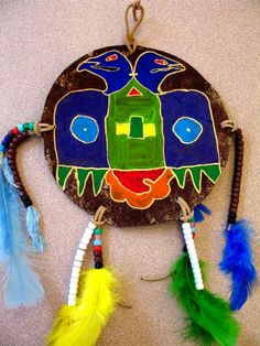 Native American Shield Native American Projects, Native American Pottery, Native American Art, Wild West Crafts, Mobiles, Cultural Crafts, 4th Grade Art, Thanksgiving, Ecole Art