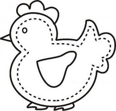 cute chicken pattern/would make a cute softie Applique Quilts, Embroidery Applique, Embroidery Patterns, Quilting Patterns, Applique Templates, Applique Designs, Free Applique Patterns, Felt Patterns, Craft Patterns