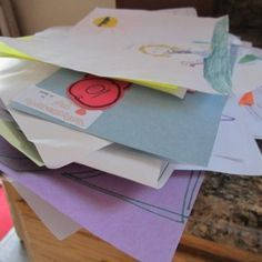 Do you have a pile of papers on your kitchen counter right now?  This simple organizing tip can help you clear the clutter, once and for all.