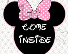 image regarding Come Inside It's Fun Inside Free Printable named 166 Suitable Kaylee 1st Birthday photos inside 2018 Minnie mouse
