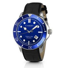 C60 Trident Automatic - Blue Bezel, Black Strap - Christopher Ward