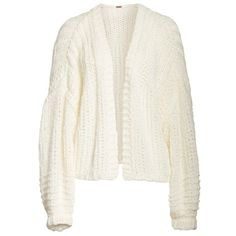 Women's Free People Chamomile Cardigan (1.742.465 IDR) ❤ liked on Polyvore featuring tops, cardigans, free people cardigan, free people tops, white top, white open front cardigan and white cardigan